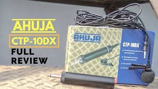 Ahuja Clip On Electret Condenser Microphone Full Review | CTP-10DX | PlayAndrotics