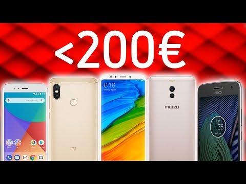 ¡5 MEJORES MÓVILES por MENOS de 200 EUROS!