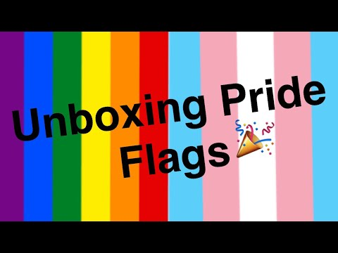 Unboxing pride flags!