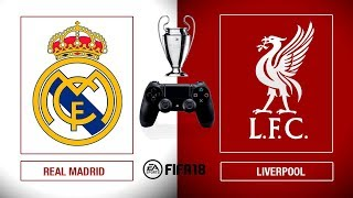 ¡La FINAL! REAL MADRID vs LIVERPOOL | SIMULACIÓN FIFA + SORTEO PS4
