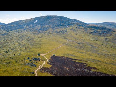 Перевал Дятлова, гора Отортен - аэросъёмка Урала