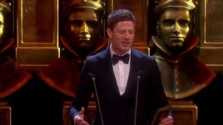 James Norton on the stage at Olivier Awards from the Royal Opera House, April 3 2016