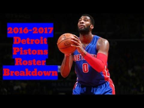 2016-2017 Detroit Pistons Roster Breakdown: NBA 2k17 Rosters