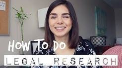 LAW SCHOOL | How to do Legal Research