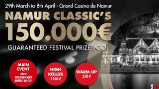 #pokernamur Classic's Main Event 2018 - Welcome to Day 2
