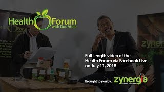Health Forum via Facebook Live | July 11, 2018