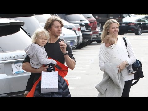 Eric Christian Olsen And His Gorgeous Family Visit The Country Mart