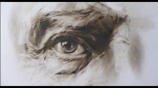 Уроки рисования. Как нарисовать глаз сухой кистью?