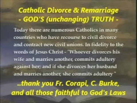 Divorce & Re-Marriage - GOD'S (unchanging) TRUTH !!