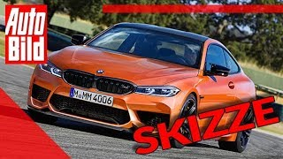 BMW M4 2020 Sportwagen Skizze Details