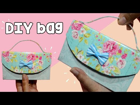 HOW TO MAKE EASY CUTE BAG AT HOME  DIY CLUTCH BAG