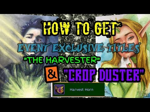 ARCANE LEGENDS: HOW TO GET THE EVENT EXCLUSIVE TITLES FOR HARVEST EVENT 😘😚😍😉