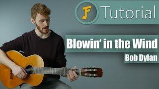 Bob Dylan - Blowin' in the Wind | Gitarren Tutorial für Anfänger | Deutsch | Jamflix