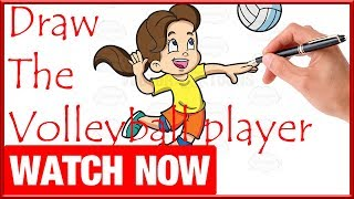 How To Draw The Volleyball player - Learn To Draw - Art Space