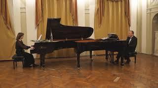 Смотреть Пётр Дятлов - Симфонический рассказ «Из детства» (переложение для двух фортепиано) онлайн