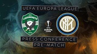 LUDOGORETS vs INTER | LIVE | Pre-Match Press Conference Conte + Ranocchia [SUB ENG]
