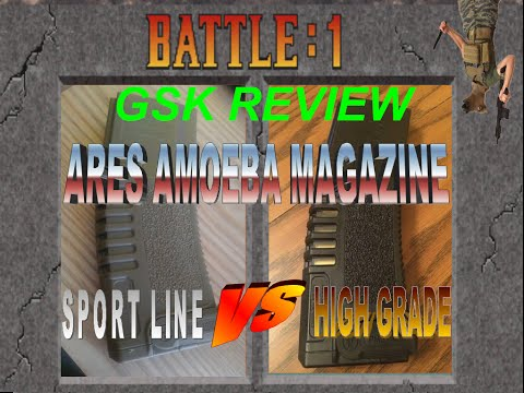 GSK Review: Ares  Amoeba M4 Magazine review; Sport Line vs High Grade