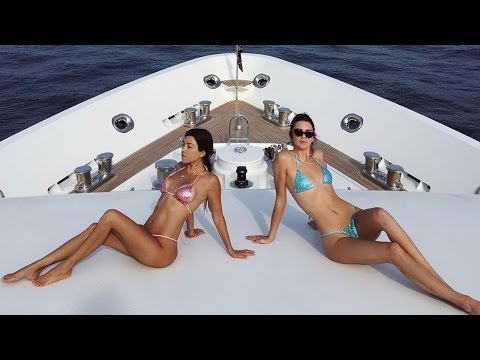 Kourtney Kardashian Sparkles in Matching Thong Bikini With Kendall Jenner Cozies Up to New Man