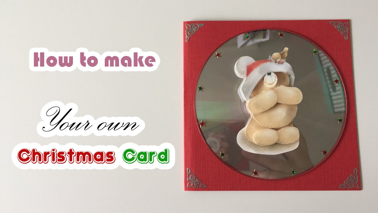 How to make your own christmas card with old cd 39 s youtube for How to make your own christmas cards