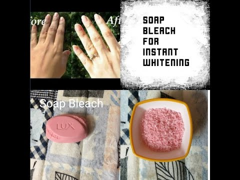 Soap bleach for instant whitening DIY(Hindi)| Hydrogen peroxide skin whitening treatment