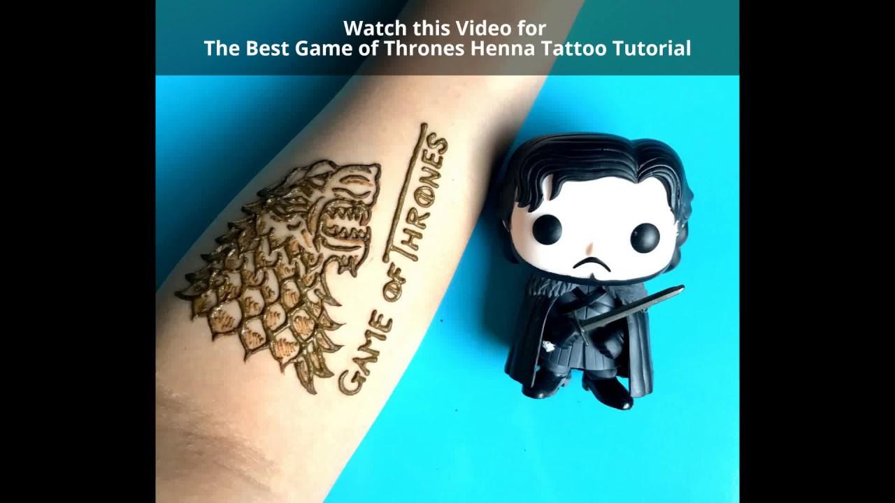 Mehndi Wolf Tattoo : Best game of thrones henna tattoo mehndi design tutorial youtube