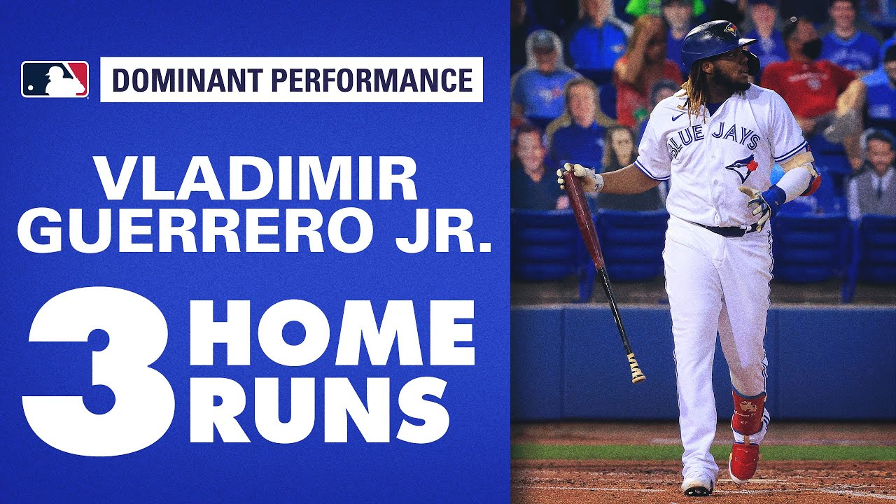 VLAD GUERRERO JR. WITH THREE HOME RUNS! (Youngest Blue Jay EVER to do so)