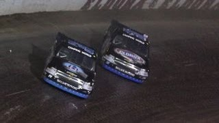 NASCAR Kyle Larson and Ryan Newman Battle During the Final Laps at Eldora