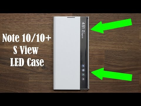 Official Galaxy Note 10 Plus LED S-View Flip Cover Case Review