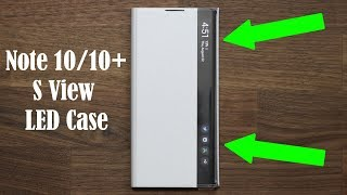 Official Galaxy Note 10 Plus LED S-View Flip Cover Case - Review