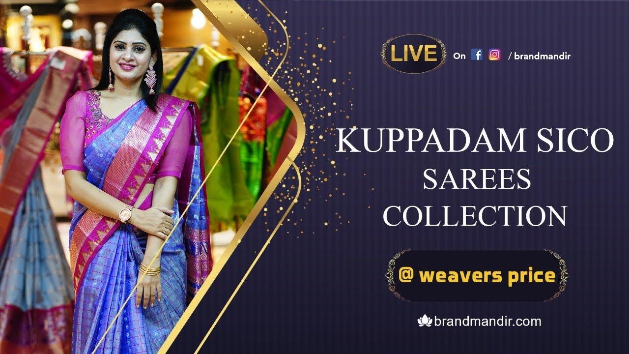 Exclusive Kuppadam Sico Sarees at Weavers Price Valid for 24 Hours   Brand Mandir