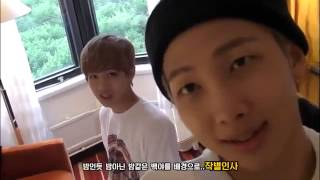 """V and RapMonster say in Russian """"hello"""""""