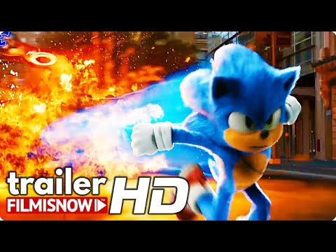 SONIC THE HEDGEHOG TV Trailer (2020) Video Game Movie
