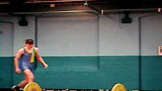 Mike First ever lift in competition Snatch 55 kg