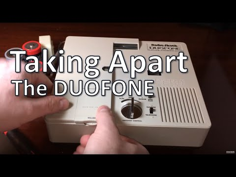 Cassette-less Radio Shack DuoFone Answering Machine 1980s