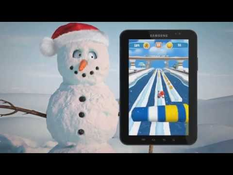3D Ice Run - Android Game play Trailer.