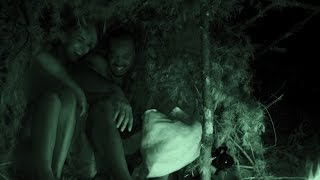 Awkward Naked Snuggling for Warmth | Naked and Afraid