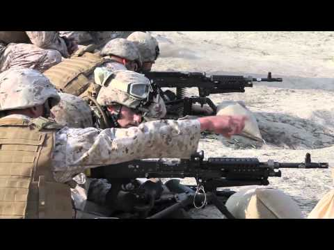 I MEF Marines conducts M240G Machine gun training