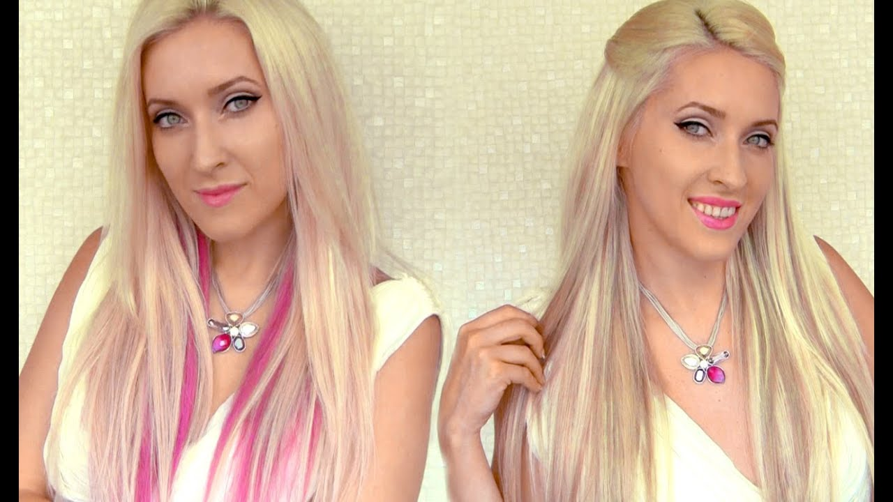 Instant highlights with clip in extensions how to add lowlights to instant highlights with clip in extensions how to add lowlights to your hair with glam time hair youtube pmusecretfo Choice Image