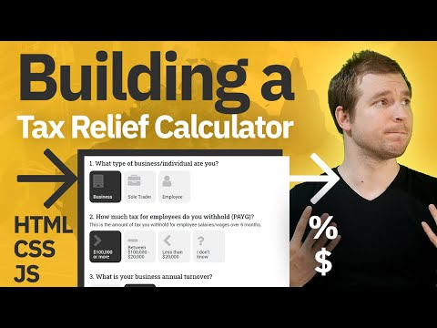 Building A Tax Relief Calculator Using HTML CSS And JS