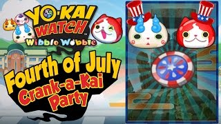 Yo-Kai Watch Wibble Wobble - Fourth of July Crank-a-Kai Party! [iOS Android Gameplay]