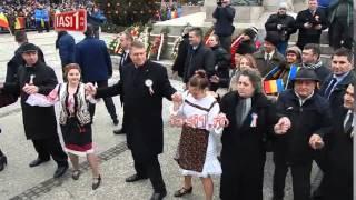 Hora Unirii cu Klaus Iohannis si Victor Ponta - Iasi - 24 ianuarie 2015 - Sarbatoare Nationala