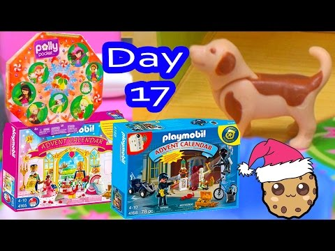 Polly Pocket, Playmobil Holiday Christmas Advent Calendar Day 17 Toy Surprise Opening Video