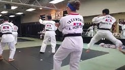 Black belt testing prequalifications at Karate America in Orange Park, Fl