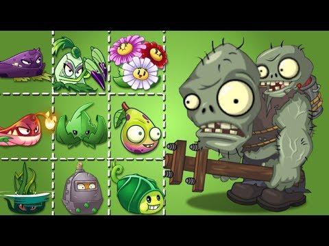 Plants Vs Zombies 2 Zombistein Cabezón Vs Plantas Fuertes