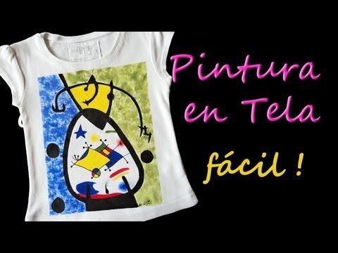 Como pintar camisetas facil tutorial como pintar en tela - Pintura para camisetas ...