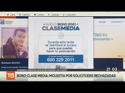 Bono Clase Media: Molestia por solicitudes rechazadas