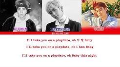 "EXO-CBX (첸백시) –""Playdate"" Lyrics (Color Coded Lyrics_Ham_Rom_Eng)"