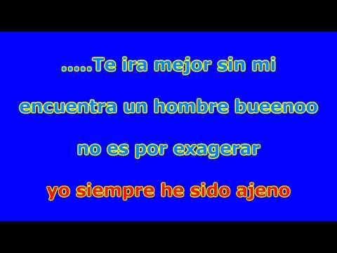 Te Ira Mejor Sin Mi Joan Sebastian Karaoke PZ Music