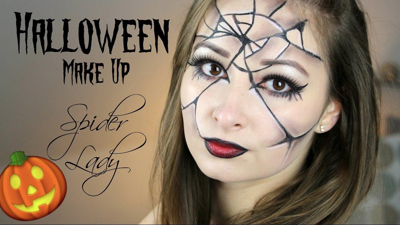 easy halloween make up spider lady schick und einfach. Black Bedroom Furniture Sets. Home Design Ideas