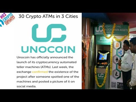 INDIA में 30 Bitcoin ATM लग रहा है 3 City's में    Unocoin 30 Crypto ATMs Launching In India —
